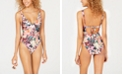 Becca Impressionist Printed Belted One-Piece Swimsuit