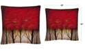 "Baldwin Rio Serenade in Red 16"" x 16"" Decorative Throw Pillow"