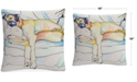 "Baldwin Pat Saunders-White Sleeping Beauty 16"" x 16"" Decorative Throw Pillow"