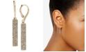 Lauren Ralph Lauren Gold-Tone Pavé Vertical Bar Drop Earrings