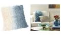 Moe's Home Collection Lamb Fur Pillow Light Deep Blue Spectrum