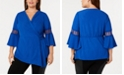 NY Collection Plus Size Faux-Wrap V-Neck Top