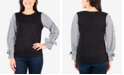 NY Collection Petites Striped Sleeve Sweater