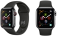 Apple Watch Series 4 AppleWatch Series4 GPS+Cellular, 44mm Space Black Stainless Steel Case with Black Sport Band