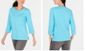 Karen Scott Embellished Sweatshirt, Created for Macy's