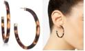 Lauren Ralph Lauren Gold-Tone Tortoiseshell-Look Medium Hoop Earrings