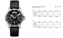 Hamilton Men's Swiss Automatic Khaki Pilot Black Leather Strap Watch 42mm