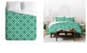 Deny Designs Holli Zollinger Crosshatch Flower King Duvet Set