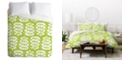 Deny Designs Heather Dutton Fern Frond Green King Duvet Set