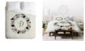 Deny Designs Iveta Abolina Silver Dove Christmas D Twin Duvet Set