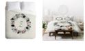 Deny Designs Iveta Abolina Silver Dove Christmas Z Queen Duvet Set
