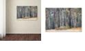 "Trademark Global Cora Niele 'Birches' Canvas Art, 12"" x 19"""