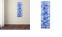 "Trademark Global Cora Niele 'Blue Larkspur' Canvas Art, 16"" x 47"""
