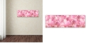 "Trademark Global Cora Niele 'Pink Tulip Scape' Canvas Art, 10"" x 32"""