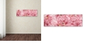 """Trademark Global Cora Niele 'Pink Tulips Scape' Canvas Art, 16"""" x 47"""""""