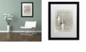 "Trademark Global Cora Niele 'Two White Shells' Matted Framed Art, 16"" x 20"""