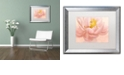 "Trademark Global Cora Niele 'Pink Peony' Matted Framed Art, 16"" x 20"""
