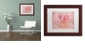 "Trademark Global Cora Niele 'Pink Ranunculus Bouquet' Matted Framed Art, 11"" x 14"""