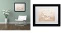 "Trademark Global Cora Niele 'White Peony' Matted Framed Art, 11"" x 14"""