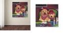 "Trademark Global Jenny Newland 'Poker Dogs' Canvas Art, 24"" x 24"""