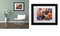"Trademark Global Jenny Newland 'Grandpa's Puppies' Matted Framed Art, 11"" x 14"""