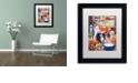 "Trademark Global Jenny Newland 'Barn Pals' Matted Framed Art, 11"" x 14"""