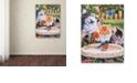 "Trademark Global Jenny Newland 'Splashing Up Some Fun' Canvas Art, 14"" x 19"""