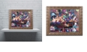 "Trademark Global Jenny Newland 'While Kittens Are Away' Ornate Framed Art, 11"" x 14"""