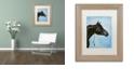 "Trademark Global Jenny Newland 'Black Arabian' Matted Framed Art, 11"" x 14"""