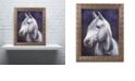 """Trademark Global Jenny Newland 'White Stallion' Ornate Framed Art, 11"""" x 14"""""""