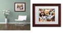 "Trademark Global Jenny Newland 'Puppy Surprise' Matted Framed Art, 11"" x 14"""