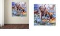 "Trademark Global Jenny Newland 'Ice Age Color' Canvas Art, 35"" x 35"""