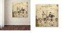 "Trademark Global Nick Bantock 'Italian Invoice' Canvas Art, 35"" x 35"""