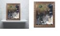 "Trademark Global Nick Bantock 'Peacock Feather' Ornate Framed Art, 11"" x 14"""