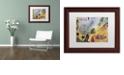 "Trademark Global Nick Bantock 'Air Mail' Matted Framed Art, 11"" x 14"""