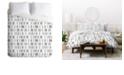 Deny Designs Holli Zollinger Bogo Mudcloth White Queen Duvet Set