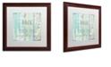 "Trademark Global Color Bakery 'Present Tense' Matted Framed Art, 16"" x 16"""