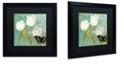 """Trademark Global Color Bakery 'White Tulips I' Matted Framed Art, 16"""" x 16"""""""