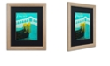 """Trademark Global Color Bakery 'Retro Cities Ii' Matted Framed Art, 16"""" x 20"""""""