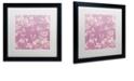 "Trademark Global Color Bakery 'Petals Of Paris Vi' Matted Framed Art, 16"" x 16"""
