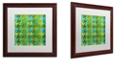 """Trademark Global Color Bakery 'Houndstooth Vii' Matted Framed Art, 16"""" x 16"""""""