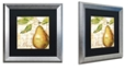 """Trademark Global Color Bakery 'Cafe D?Or Vi' Matted Framed Art, 16"""" x 16"""""""