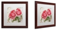 "Trademark Global Color Bakery 'Apricot Peonies I' Matted Framed Art, 16"" x 16"""