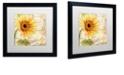 "Trademark Global Color Bakery 'Ete I' Matted Framed Art, 16"" x 16"""
