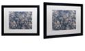 "Trademark Global Color Bakery 'Toile Fabrics Ii' Matted Framed Art, 16"" x 20"""