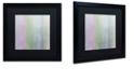 """Trademark Global Color Bakery 'Hortensia Stripes' Matted Framed Art, 16"""" x 16"""""""