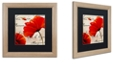 """Trademark Global Color Bakery 'Coquelicots Rouge Ii' Matted Framed Art, 16"""" x 16"""""""