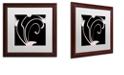 "Trademark Global Color Bakery 'Daring Deco Iii' Matted Framed Art, 16"" x 16"""