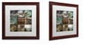 "Trademark Global Color Bakery 'Cabela V' Matted Framed Art, 16"" x 16"""