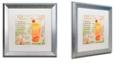 "Trademark Global Color Bakery 'Cocktail Quartet Iii' Matted Framed Art, 16"" x 16"""